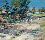 Oil painting Rural street Alexander Nikolaevich