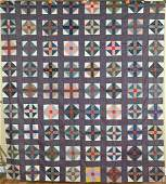 Vintage 1880s Churn Dash Antique Quilt Top