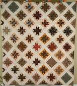 Vintage 1870's Stars Antique Quilt