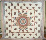1830s Star of Bethlehem Antique Quilt