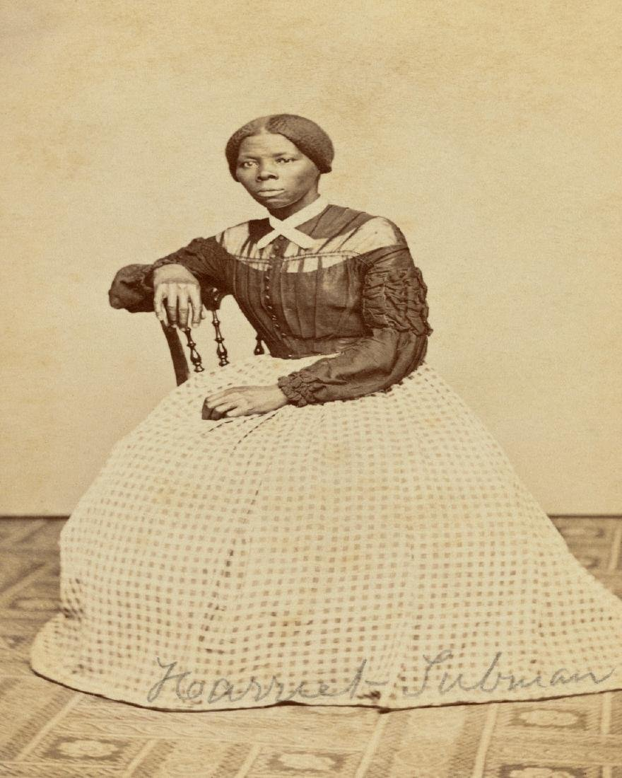 SIGNED PORTRAIT OF HARRIET TUBMAN; 1868 AT 46 YRS