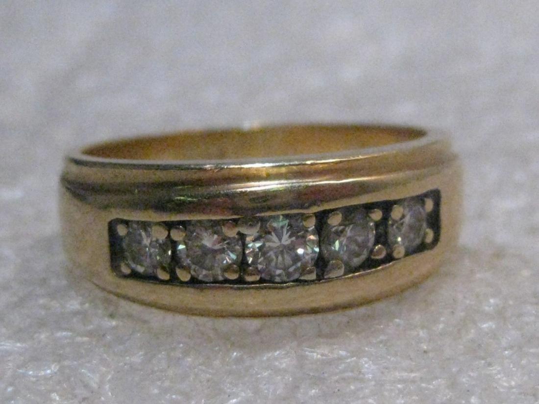 Vintage 14kt Diamond Wedding Band, Unisex, sz. 7,