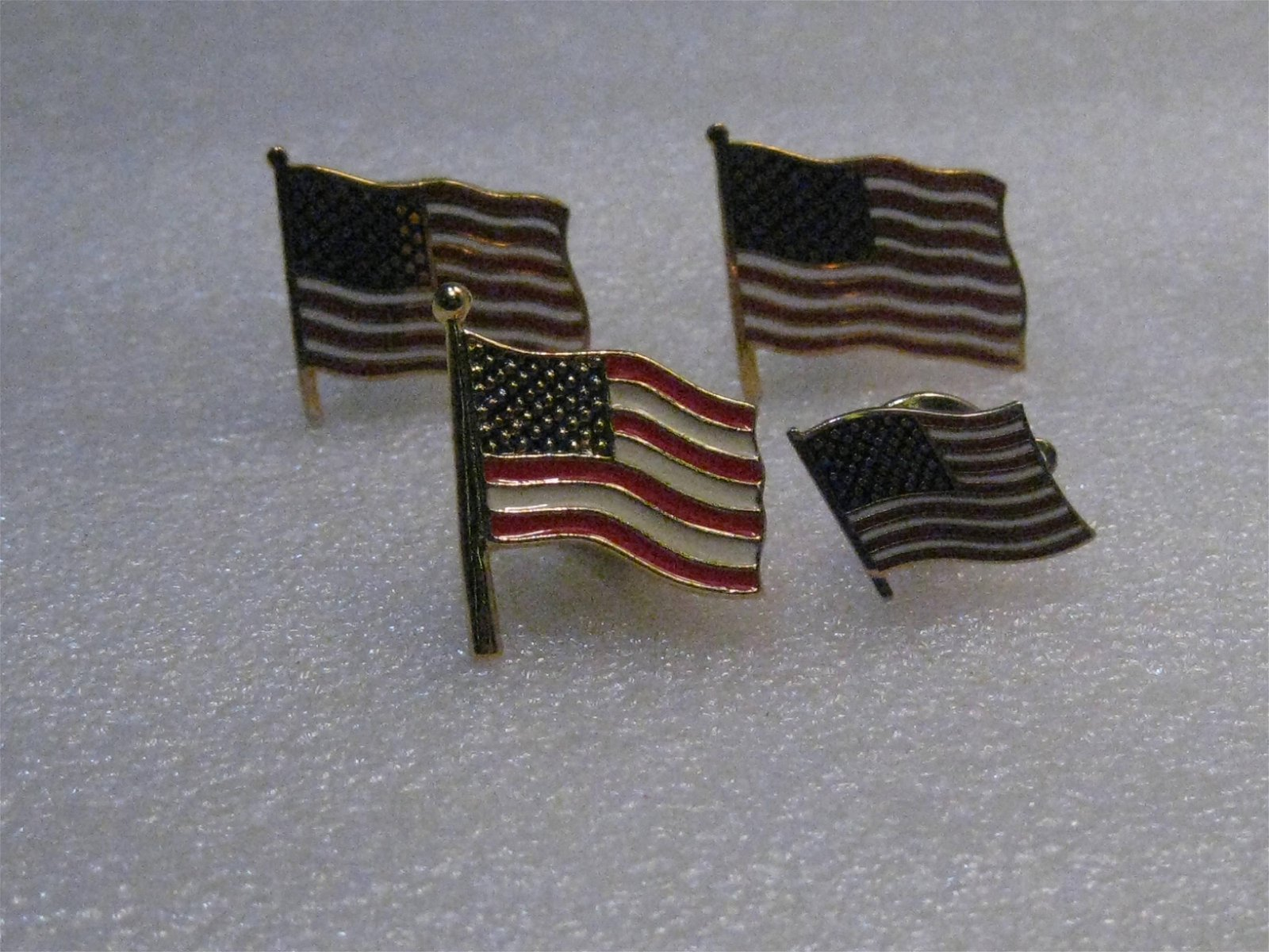 Vintage Dante USA Flag Cuff Links, Enameled with two
