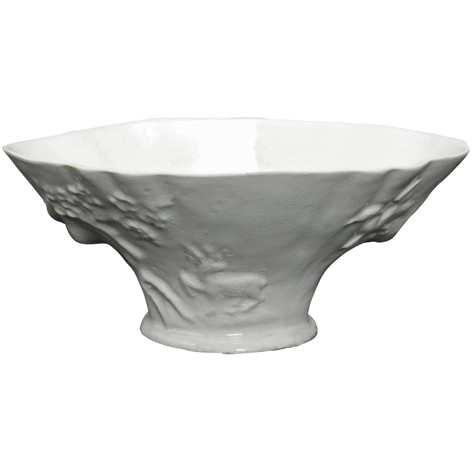 Chinese Republic White Porcelain Libation Cup