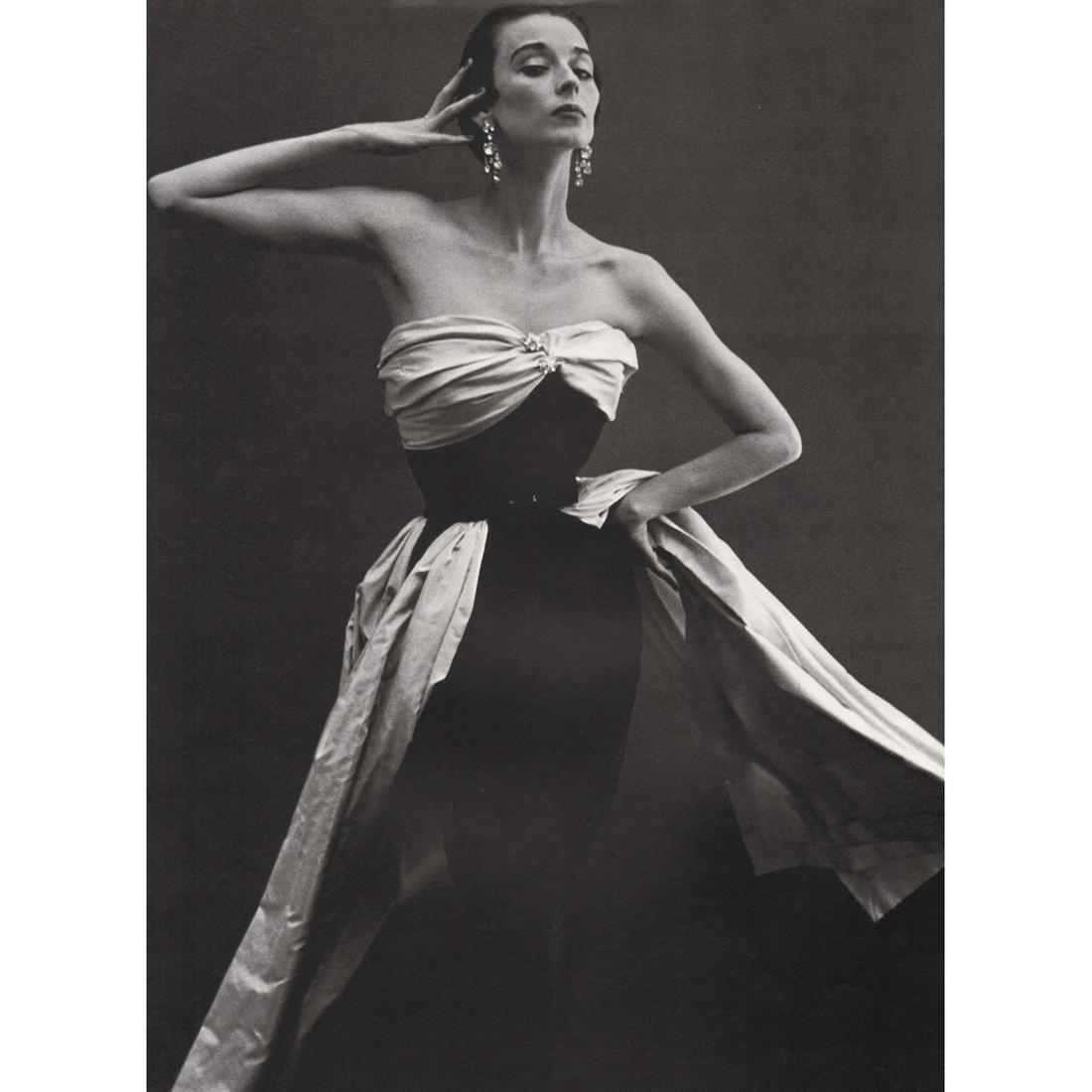 RICHARD AVEDON - Dorian Leigh, Dress by Balenciaga,