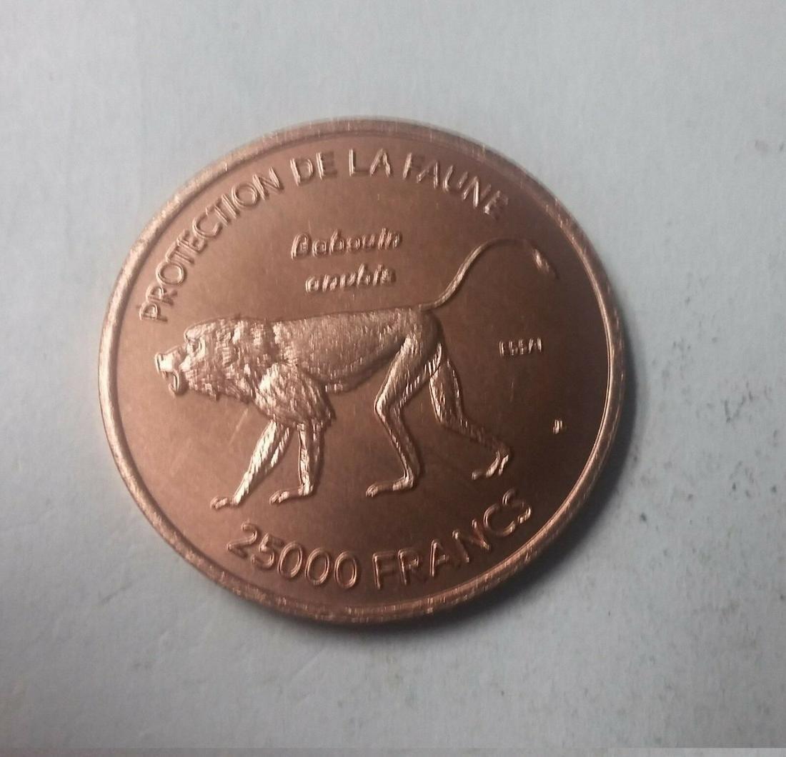 Rare 2007 Ivory Coast copper 25000 fr essai pattern