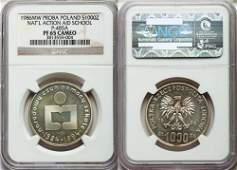Rare Poland 1986 Proba pattern 1000 Z-National