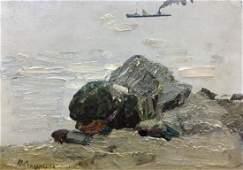 Oil painting Seascape Peter Kuzmich Stolyarenko