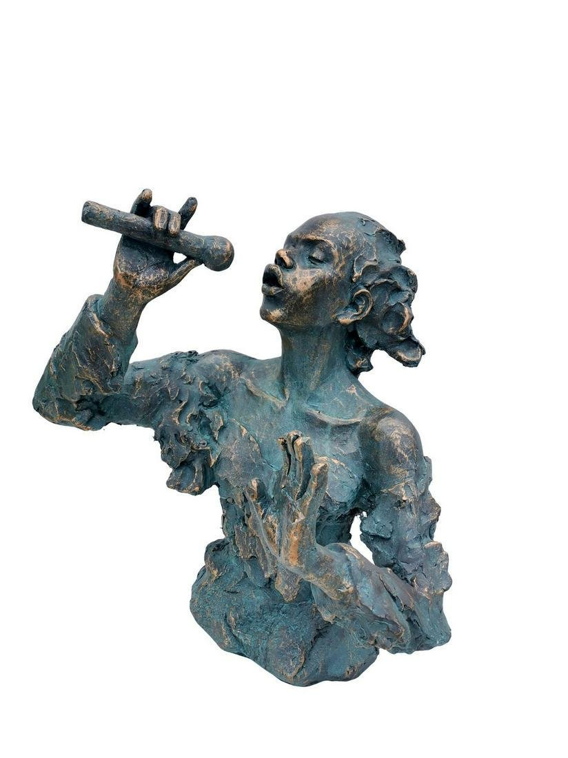 Very large statue of a performing female