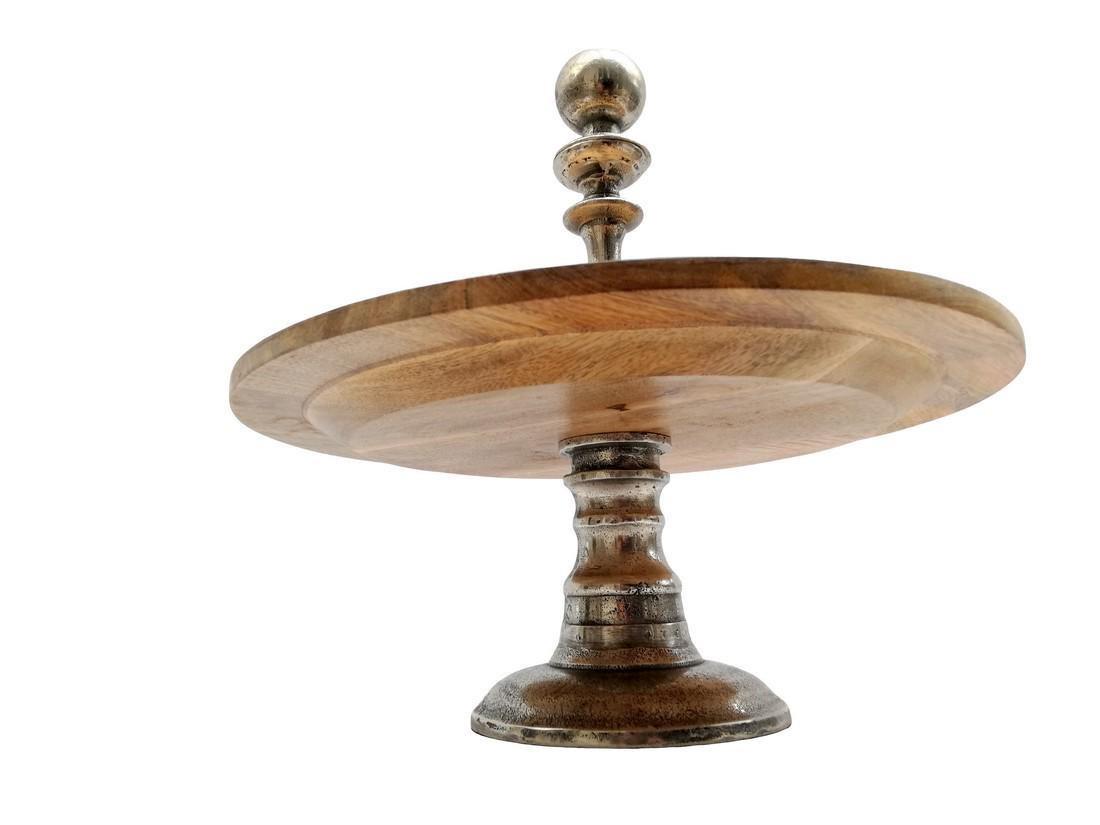 etagere chrome & wood