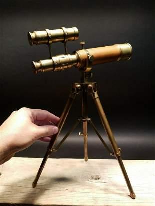 Brass Telescope Brass Tripod