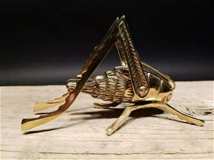 Gold Brass Fireplace Good Luck Hearth Cricket