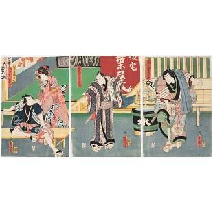 Title Toyokuni III Utagawa Kabuki Theatre Yaoya
