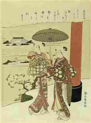 Title Two young girls Artist Suzuki HARUNOBU Date