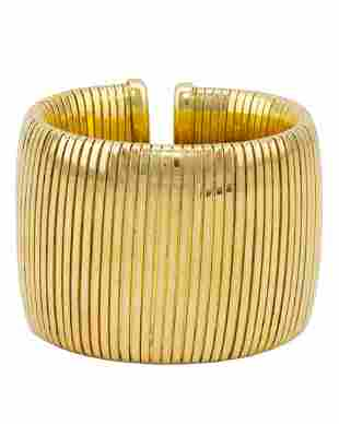 Anon Goldtone tubogas cuff