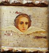 Antique 19c Russian icon of An Angel