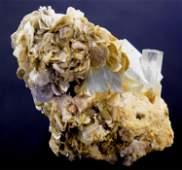 Damage Free Aquamarine Crystals Muscovite Mica Specimen
