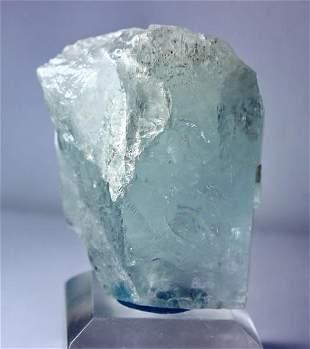 Natural unheatedBlue Aquamarine Mineral Crystal