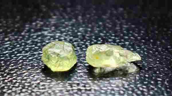 Natural & unheated~ Green Sapphire Rough