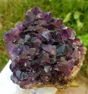 286.5 Grams Natural Amethyst Crystals Cluster 84X75X34