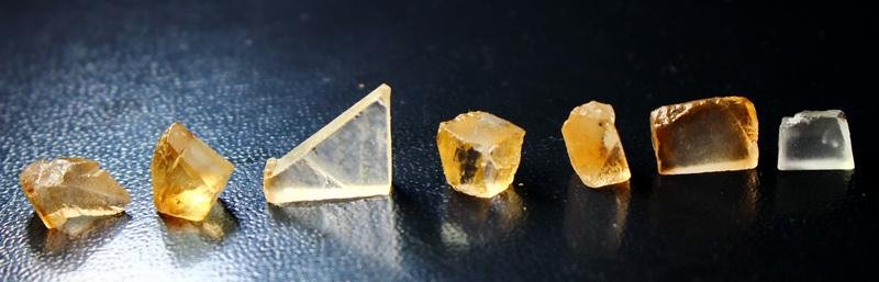 Natural & unheated~Orange Brown Topaz Rough Lot