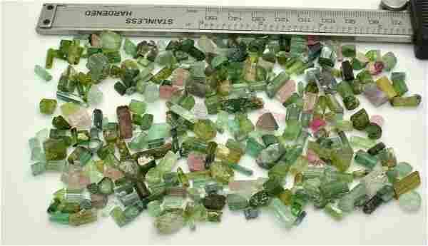 100 Grams Beautiful Tourmaline Rough Crystals Lot