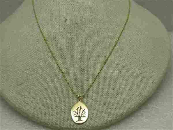 14kt Tree of Life Necklace 18 328 Gr Signed MKS D