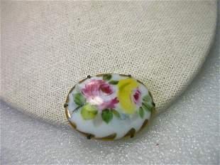 True Victorian Hand Painted Triple Rose Porcelain