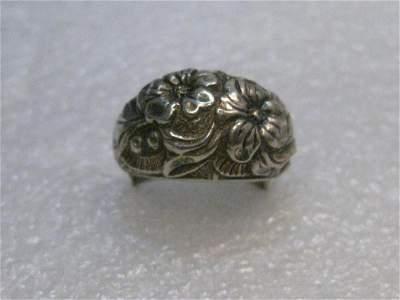 Vintage 1960's Napier Sterling Ring, Floral, 9.54