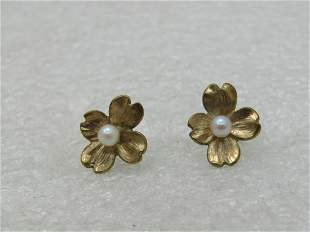 Vintage 12kt G.F. Four-Leaf Clover Earrings, with