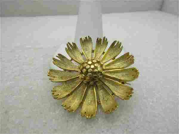 """Vintage BSK Floral Blossom Brooch, 1.75"""", 1960's"""