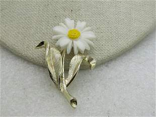 Vintage Yellow & White Daisy Brooch, Sarah Coventry