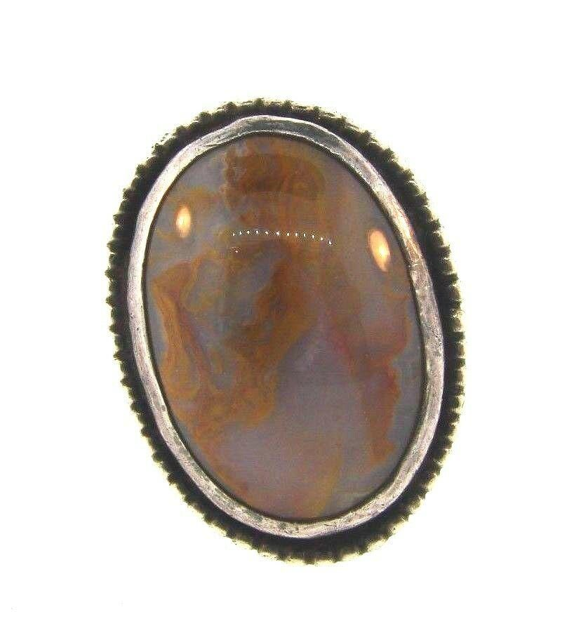 GORGEOUS Sterling Silver & Agate Ring