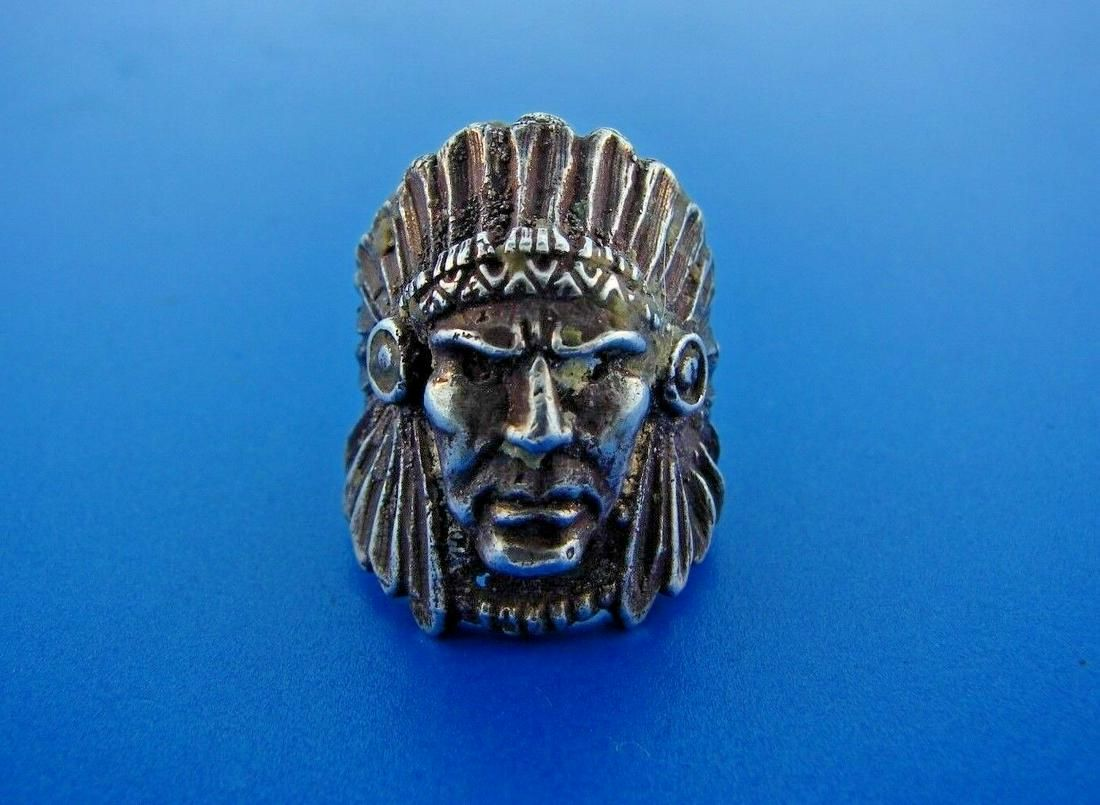 COOL Silver Native American Chief Ring