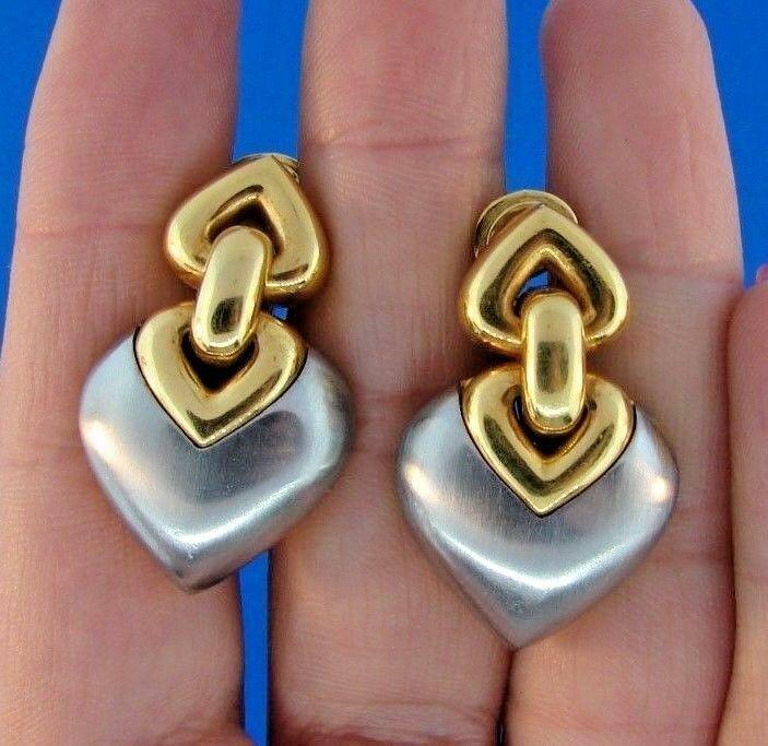 CUTESIE Bvlgari 18k Yellow Gold & Stainless Steel Heart