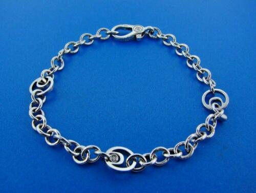 CHIC Damiani Made in Italy 18k White Gold Link Bracelet