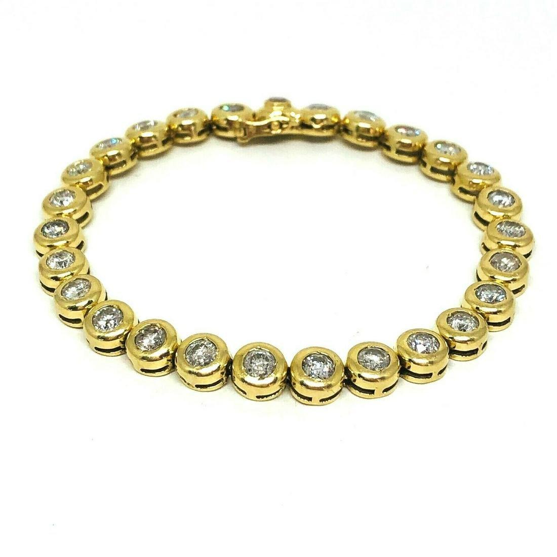 6 ct Round Brilliant Cut Diamond Tennis Bracelet 14K