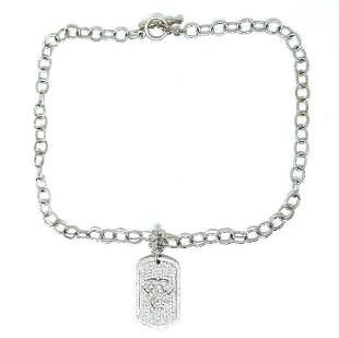 Loree Rodkin 18k White Gold Diamond Tag Pendant