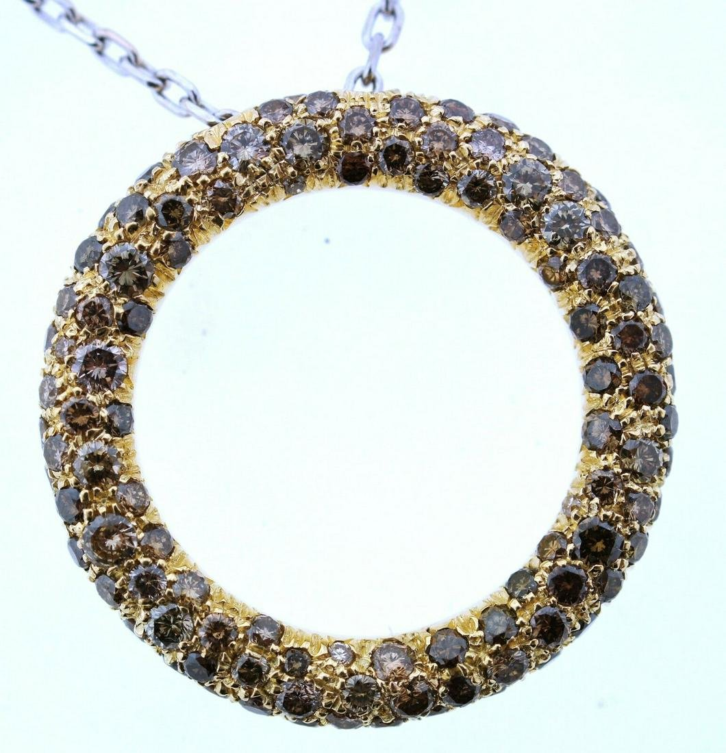 ROBERTO COIN 18K GOLD CHAIN FANCY YELLOW & BROWN