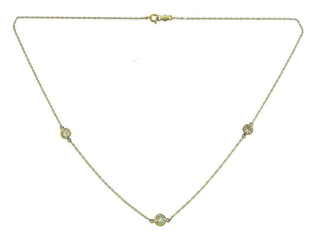 CLASSIC 14k Yellow Gold & Diamond Necklace Chain