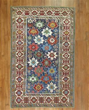 Snowflake Antique Caucasian 19th century Rug