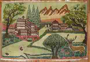 Kashan Pictorial Landscape Rug