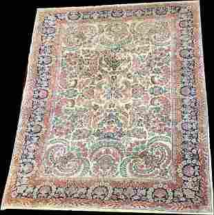 Astonishing Antique 7' x 9' Persian Kerman Rug