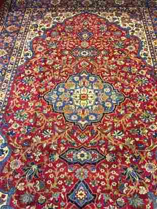 Semi Antique Hand Woven Persian Esfahan 119x810