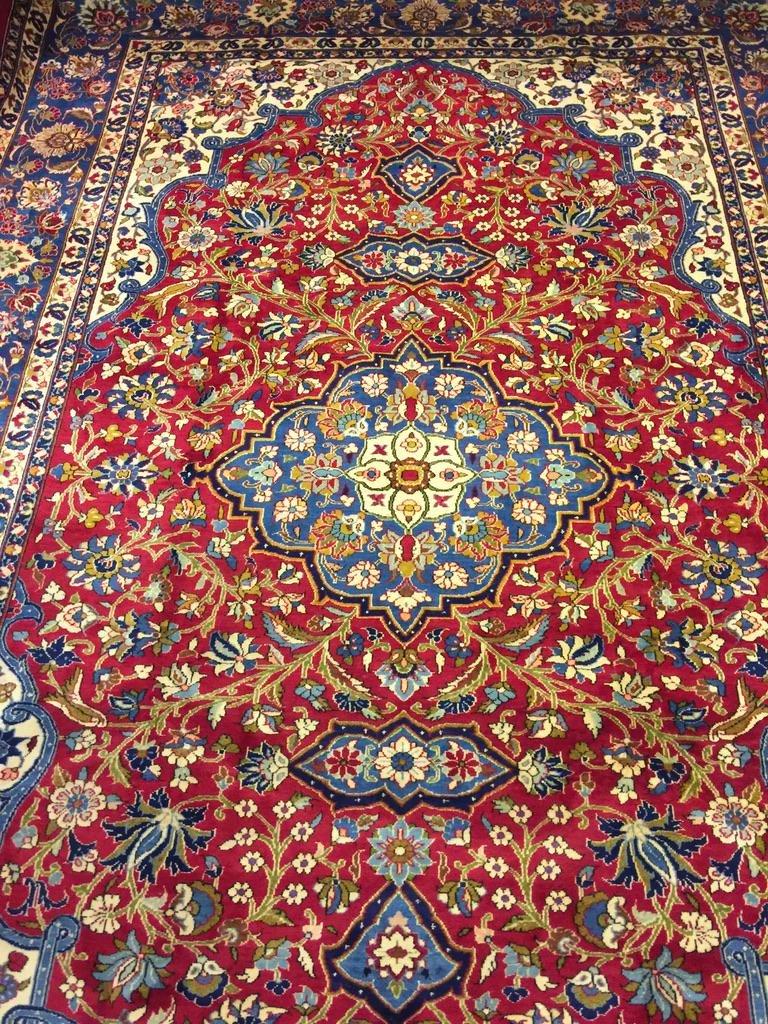 Semi Antique Hand Woven Persian Esfahan 11.9x8.10