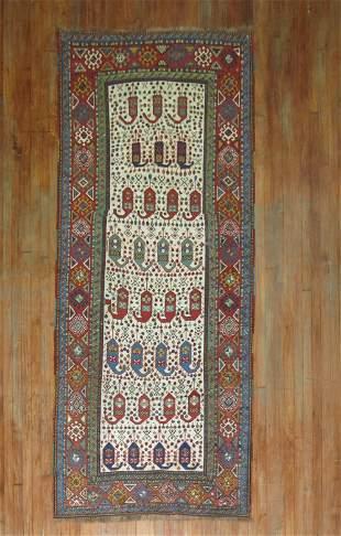 Antique Ivory Kazak Rug