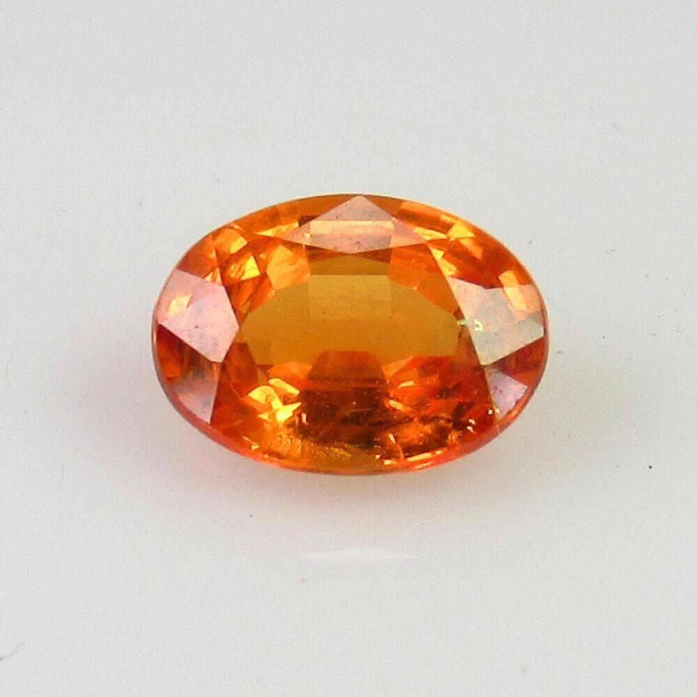 0.96 Ct Natural Ceylon Orange Sapphire Oval Cut