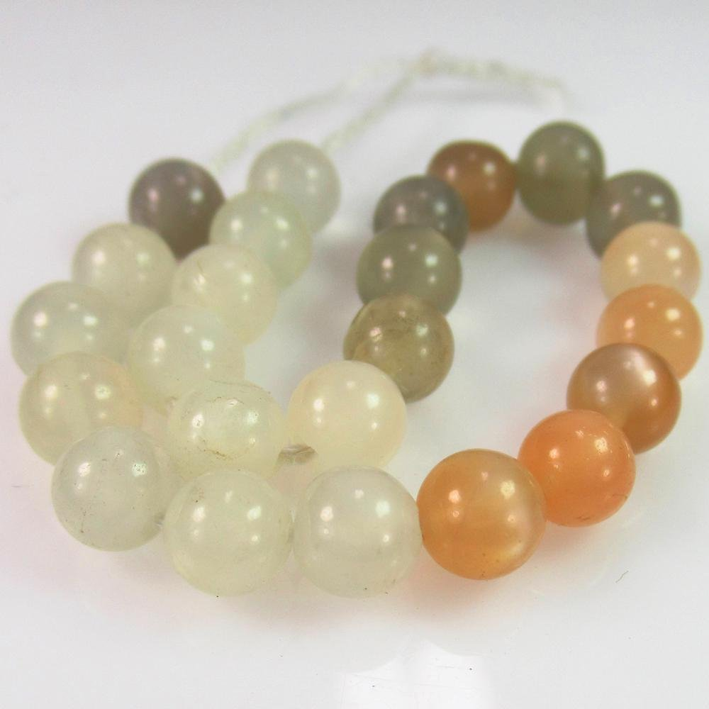 26.06 Ct Natural 24 Drilled Moonstone Ball Beads