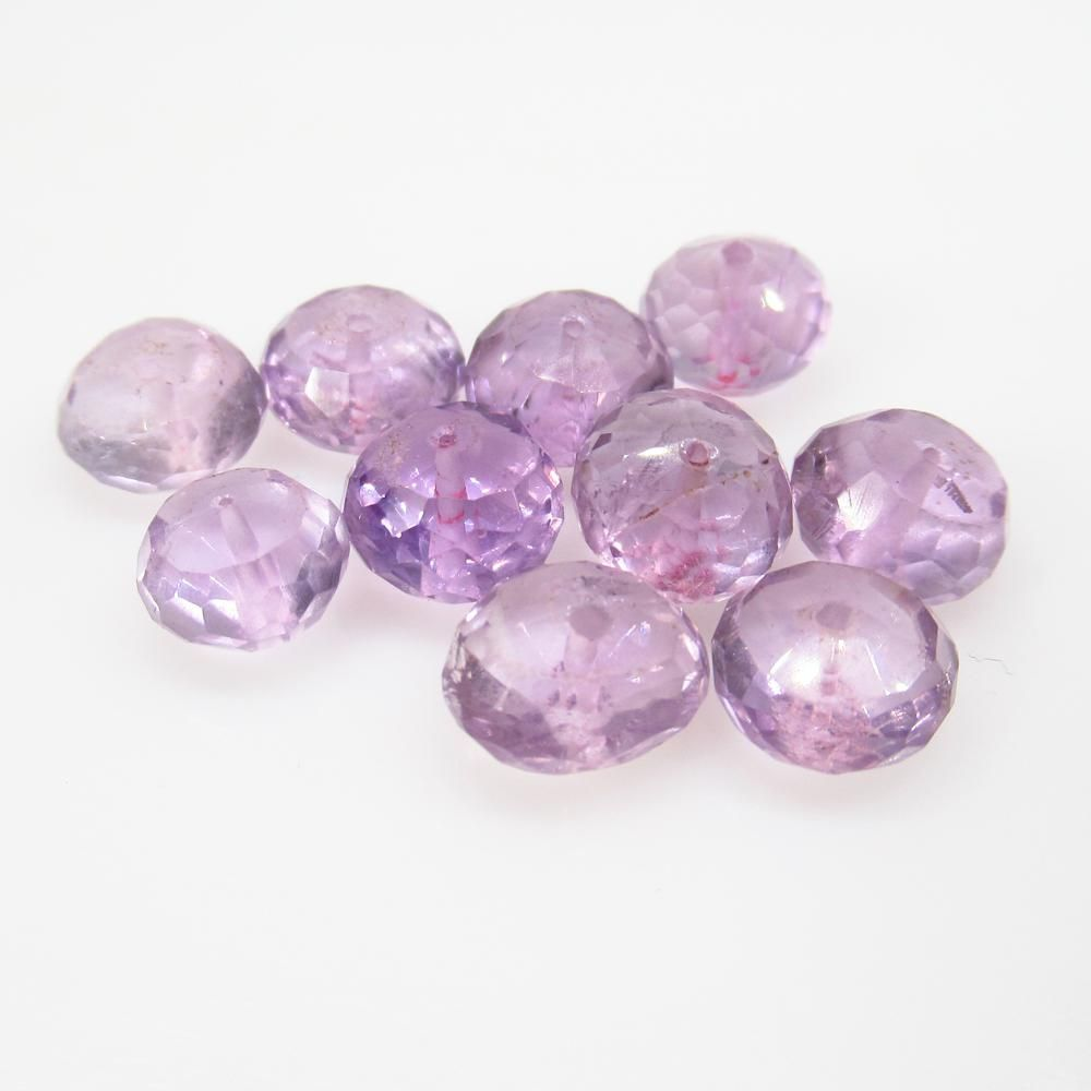 20.00 Ct Natural 12 Purple Amethyst Drilled Round Beads