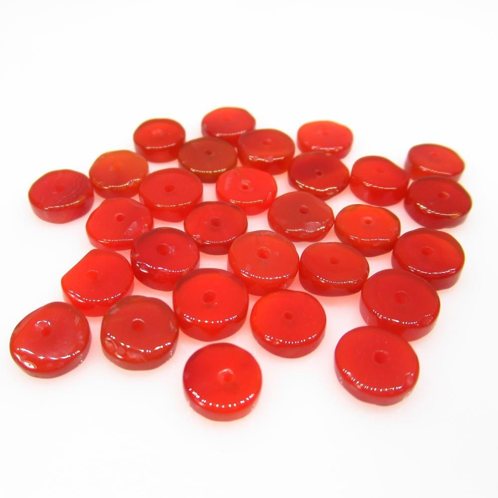 21.53 Ct Natural 30 Carnelian Drilled Round Beads